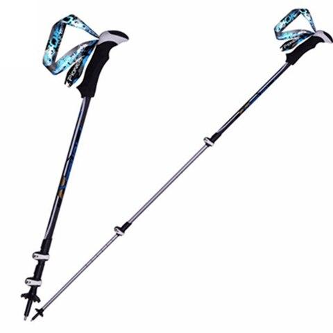 pioneer 1 par nordic walking cane trekking polos de liga de aluminio bengala para o