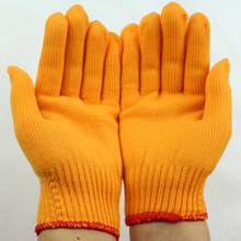 Freeshipping thicknened Yellow 6pair Nylon gloves for every day working security defending and wear-resistant for gardening labor