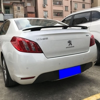 High quality ABS material for Peugeot 408 508 spoiler rear wing primer rear spoiler 2010 2015
