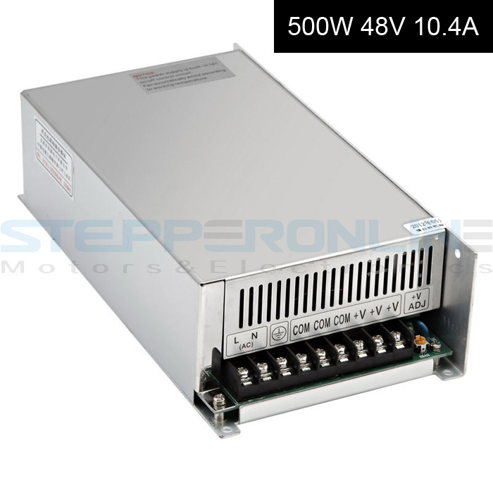 Switching Power Supply 48V 500W 10.4A 115V/230V AC CNC lpower source dc48v 500w 10 4a switching power supply 115v 230v to stepper motor diy cnc router