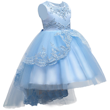 High-grade Gold wire embroidery Flower Girl Dress