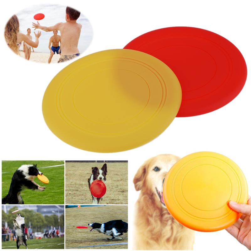 Diameter 20cm Outdoor Silicone Dog Flying Disc Pet Tooth Resistant Fetch Training Toy Puppy Dog Frisbee Playing Toy