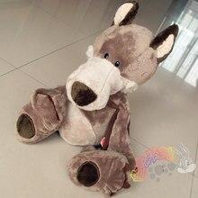 cute plush boy wolf font b toy b font stuffed brown school bag wolf doll gift