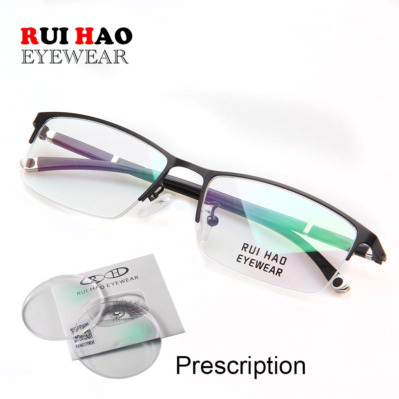 Customize Prescription Glasses Progressive Spectacles Single Vision Glasses CR39 Resin Lenses Fashion Optical Eyeglasses-in Men's Prescription Glasses from Apparel Accessories