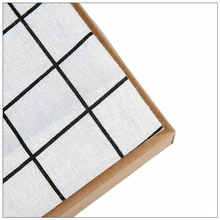 light Grey lattice Cotton Linen Fabric Sewing DIY Patchwork Quilt Knitted Sofa Curtain Cloth Cushion Table Furniture Material