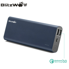 Blitzwolf BW-P5 15600 мАч Quick Charge QC3.0 Dual USB портативный внешний аккумулятор зарядное устройство Power Bank для Iphone для Samsung Power