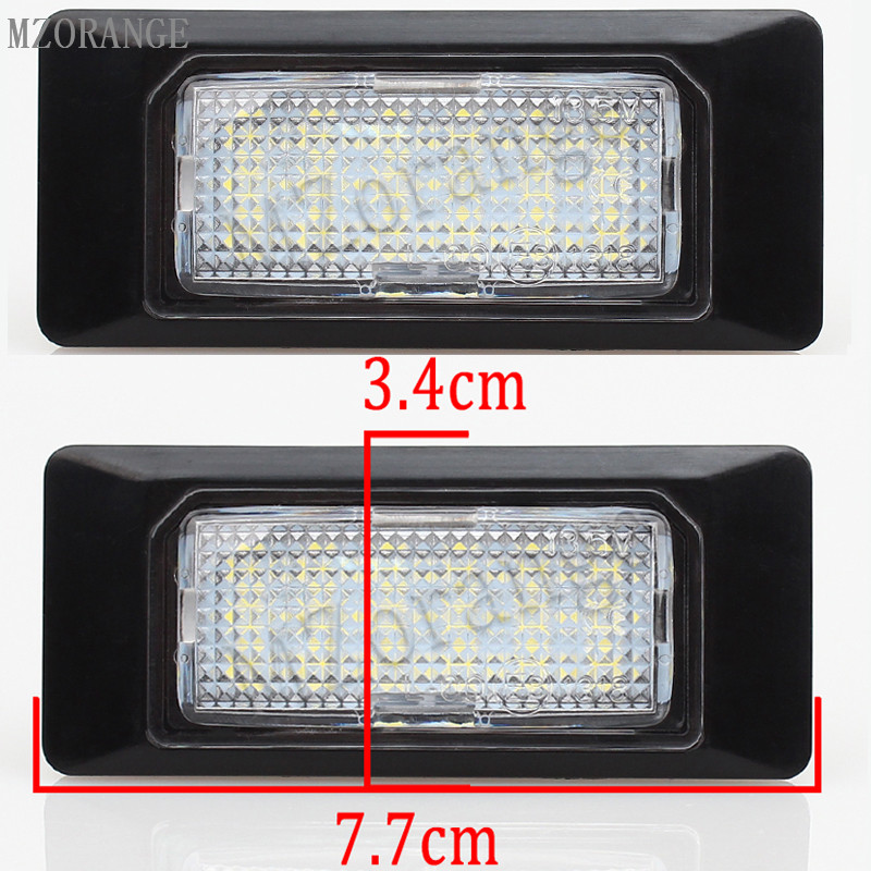 где купить MZORANGE Car LED License Plate Lights For Audi A6 c7 A1 A7 TT For Volkswagen For VW Golf 6 Passat B6 B7 Polo 4D Jetta MK6 Touran дешево