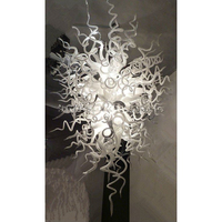 Longree современные лампы подвеска светодиодные лампы открытый светильник ручной взорван Стекло подвесная люстра для hotel