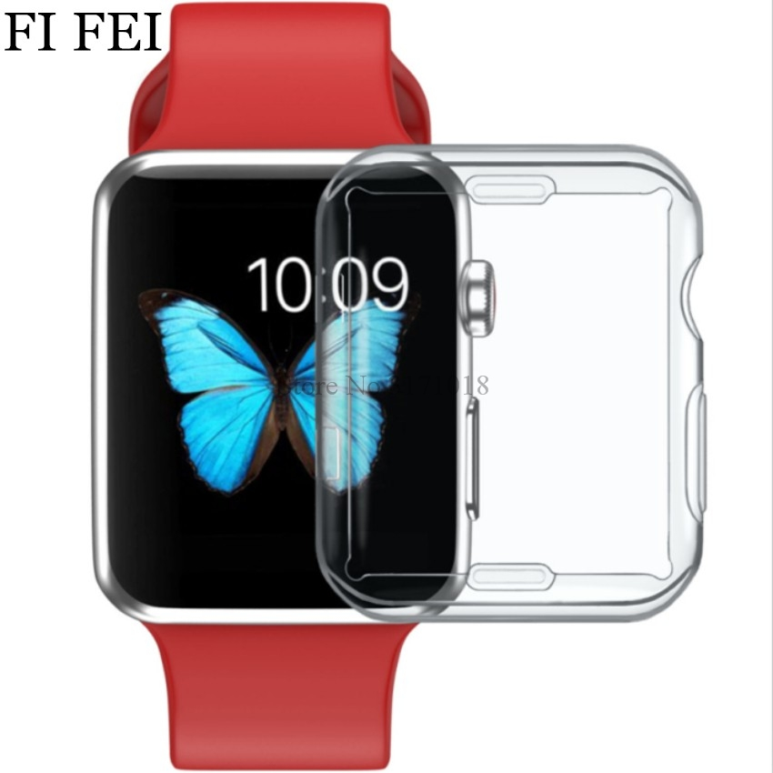 FI FEI Watch accessories for Apple Watch Case Series 3 2 1 Soft Slim Electroplate Soft TPU Screen Protector Cover 38mm 42mm series 1 2 3 soft silicone case for apple watch cover 38mm 42mm fashion plated tpu protective cover for iwatch