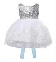 Elegant Sequins Flower Girl Baby Kids Lace Bowknot Dress Party Gown Formal Dresses 0 10Y