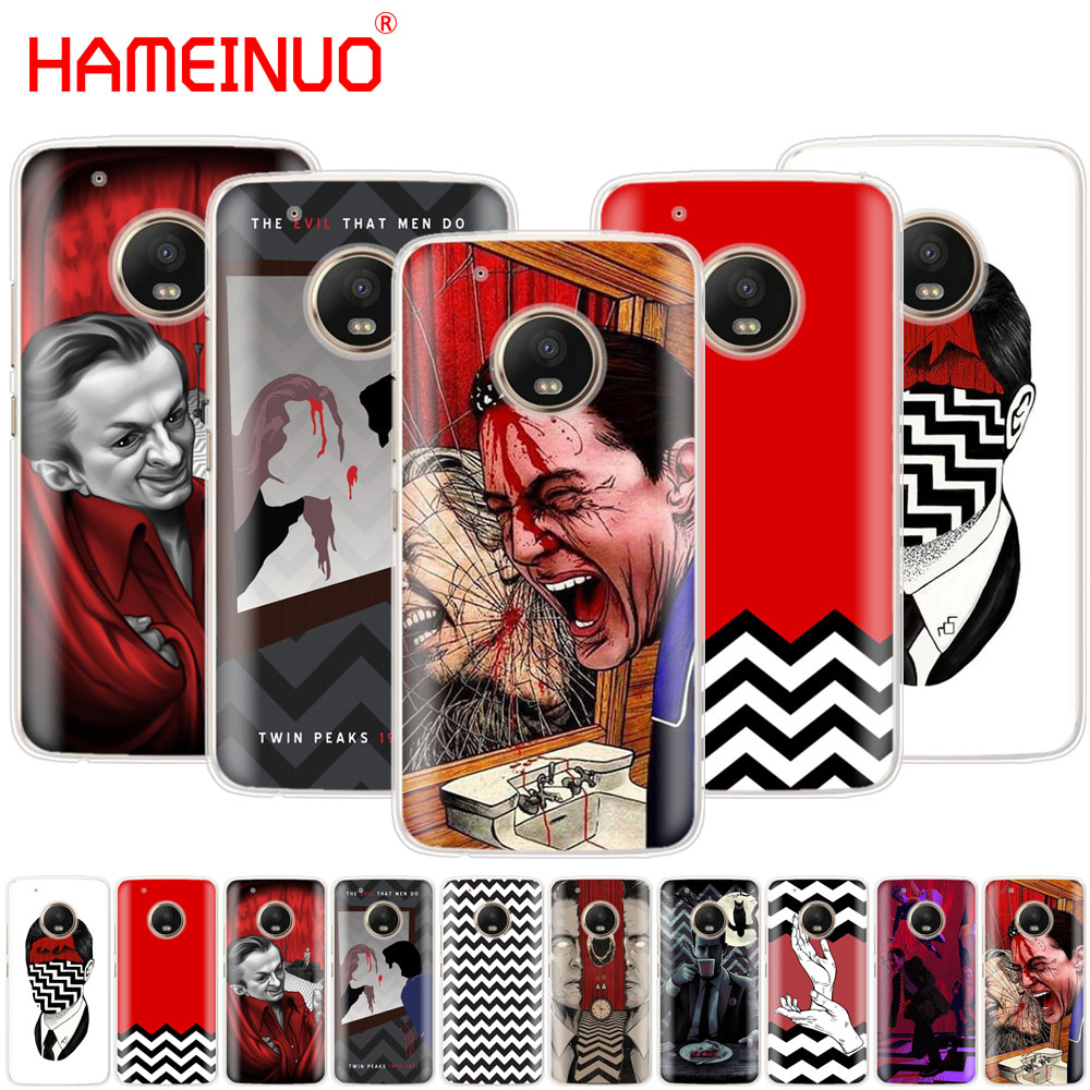 HAMEINUO Twin Peaks Fire Walk With Me case phone cover For Motorola Moto X4 E4 C G6 G5 G5S G4 Z2 Z3 PLAY PLUS