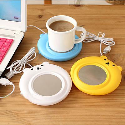 2016 nova inverno quente mini usb bonito xícara de café criativo gadget usb warmer coaster escritório computador portátil alimentado aquecedor
