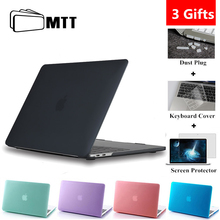MTT Matte/Crystal Case For Macbook Air Pro Retina 11 12 13 15 With Touch Bar Hard Cover for macbook air 13.3 inch Laptop Sleeve enkay crystal hard protective case for 15 inch macbook pro with retina display translucent green