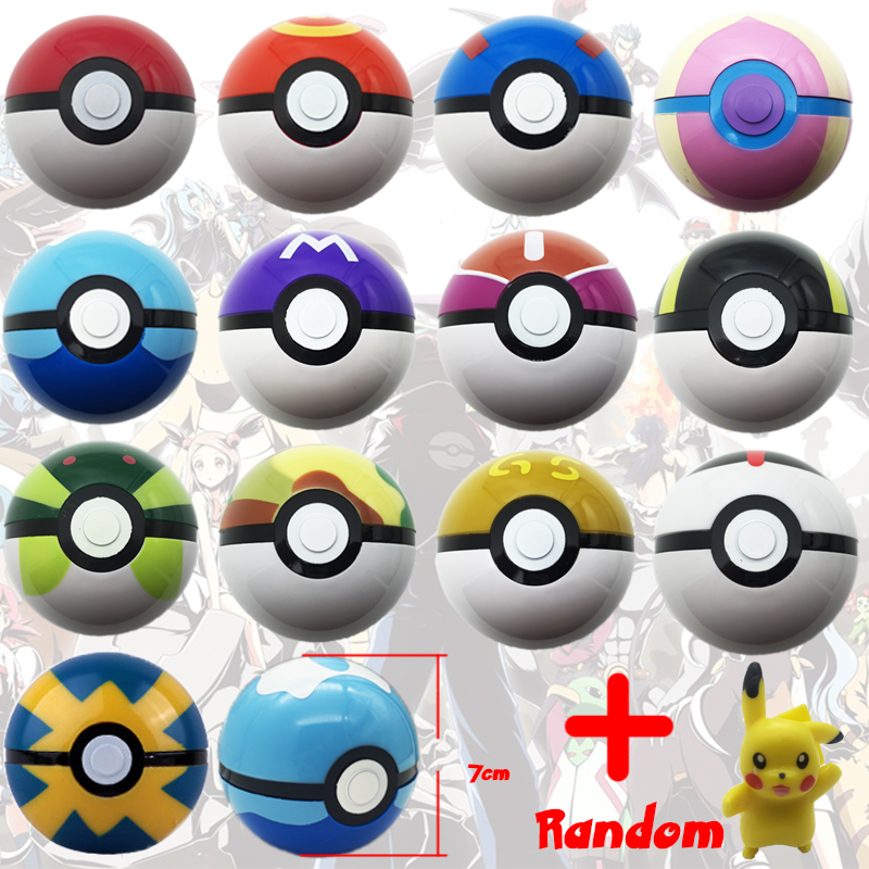 1-13pcs 7cm Pok Go Pokeball ABS Figures Japanese Hot Anime Pok Ball Kids Toys Cosplay Collections Gifts Super Master go go hz101 7