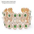 Neoglory aaa Zircon Austrian Rhinestone Gold Plated Bangles Bracelet Fashion Simulated Pearl Jewelry for Women 2017 New ZPR1 QC