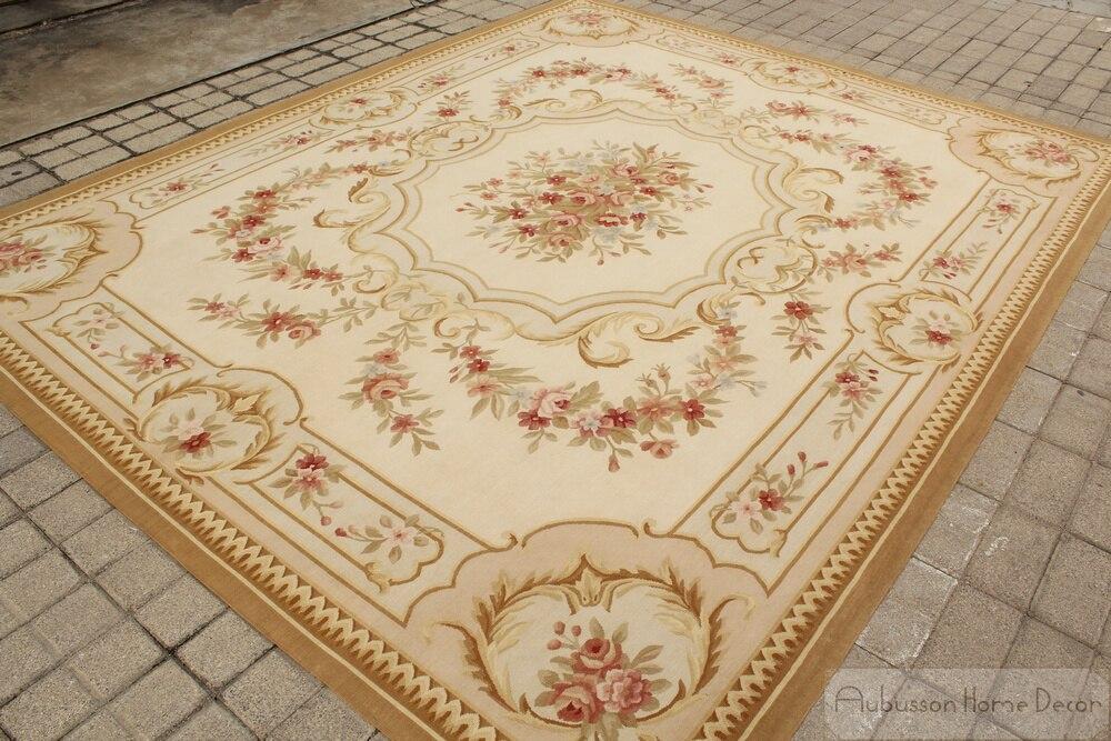 8 39 x10 39 woven hand aubusson tapis antique fran ais pastel tapis de sol rose dans carpette de. Black Bedroom Furniture Sets. Home Design Ideas