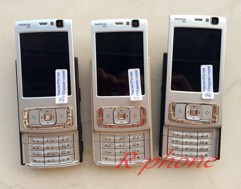 Arabic N95 Original Keyboard English Refurbished Cellphone Mobile Unlocked Nokia Phone Russian