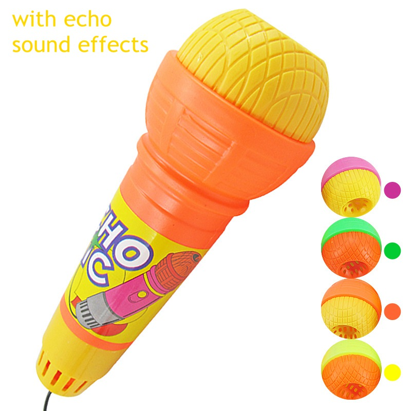 Echo Mic Kids Toy Pretend Play Sound Plastic Vibrate Baby Kid's Microphone Funny Toys Educational Toys For Children