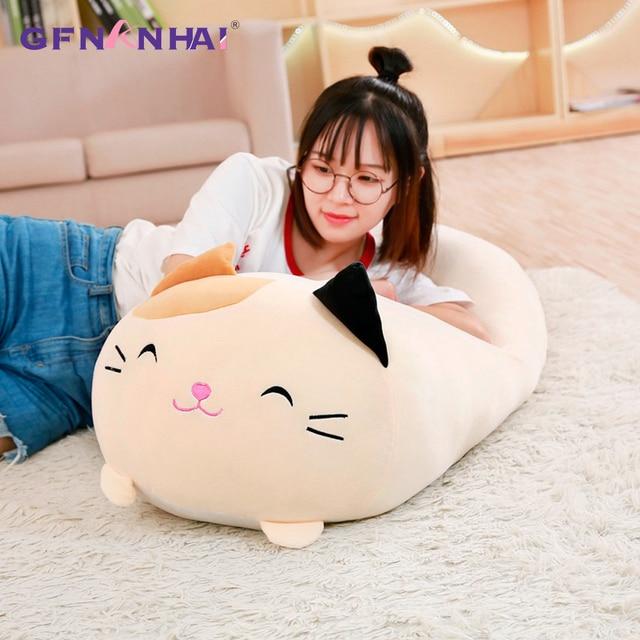 Grande Macio Animal Dos Desenhos Animados Travesseiro Almofada Bonito Fat Cat Dog Totoro Porco Sapo Pinguim de Pelúcia Brinquedo de Pelúcia Adorável crianças Birthyday presente