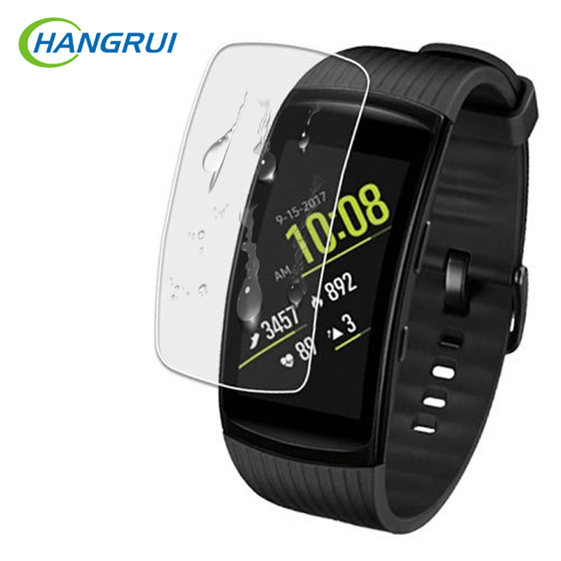 цена на Hangrui Soft TPU Ultra HD Clear Protective Film Anti-scratch For Samsung Gear Fit 2 Pro Smart Band Full Screen Protector Cover