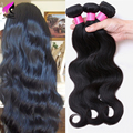 Natural Black Brown Malaysian Virgin Hair Body Wave Weave 4 Bundles Human Hair Extension 7A Grade Unprocessed Human Hair Bundles