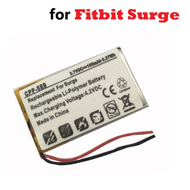 Battery for Fitbit Surge Smartwatch Smart Watch 3 7V 100mAh New Li Polymer Lithium Polymer Rechargeable