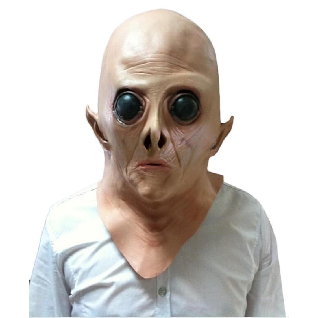 Silicone divertente Spaventoso Maschera Alien Ufo Extra Terrestrial ET Horror In Lattice di Gomma Del Partito Pieno Maschere Per Il Costume Del Partito Cosplay