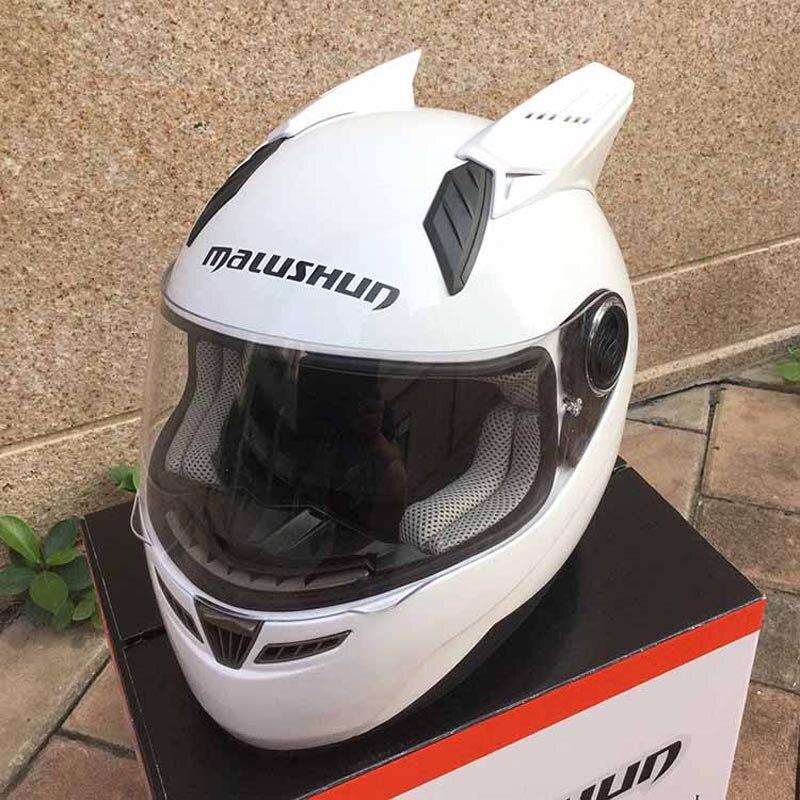 Livraison gratuite casque de moto MARUSHIN 999RZS DOT casque intégral approuvé coudé blanc