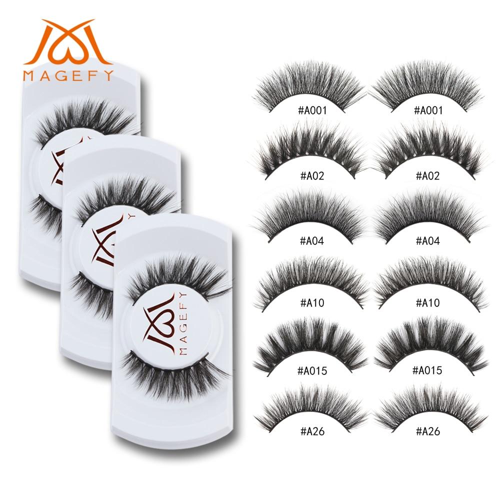 c3666504b56 50pairs/lot Wholesale Eyelashes Faux Mink Lashes Extension Handmade False  Eyelash 3D Mink Eyelashes Fake Eyelashes Makeup cilios-in False Eyelashes  from ...