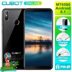 Cubot R11 5.5'' 18:9 Smartphone 2GB RAM 16GB ROM MT6580 Quad Core Android 8.1 Fingerprint ID Dual Back Cameras Moile Phone