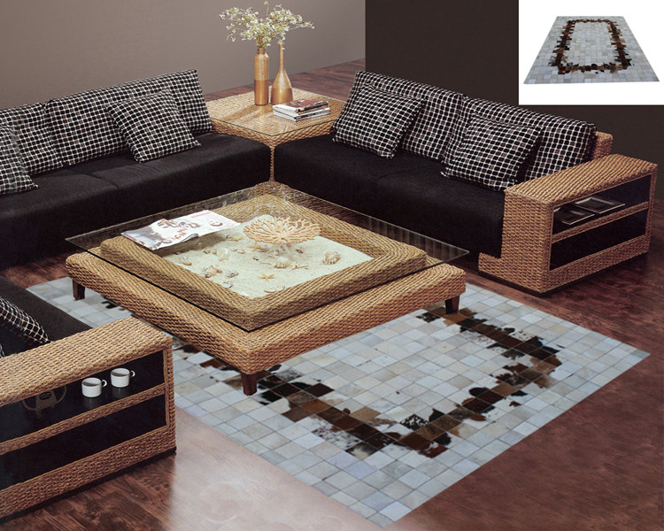 Fashionable art carpet 100% natural genuine cowhide leather silk rugFashionable art carpet 100% natural genuine cowhide leather silk rug