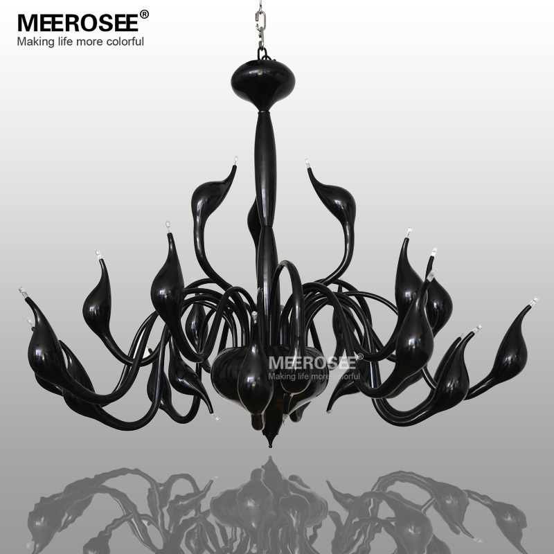 Modern White Swan Chandelier Light Fixture Lighting Ing Black Hanging Suspension Drop Lamparas Lamp In Chandeliers From Lights