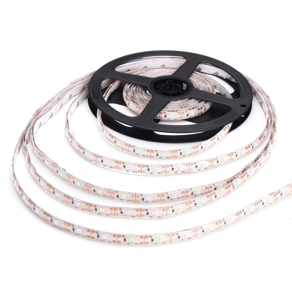 Smuxi USB LED Strip 2835 LED Lights 12V Flexible Home Decoration Lighting 4/5M LED Tape RGB/White/Warm White/Blue/Red