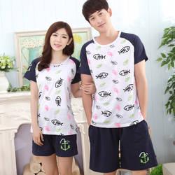 Брендовые летние пары пижамы Для женщин пижамы Pijama Hombre masculino любителей Хлопковые пижамы Для мужчин пижамы домашние Костюмы