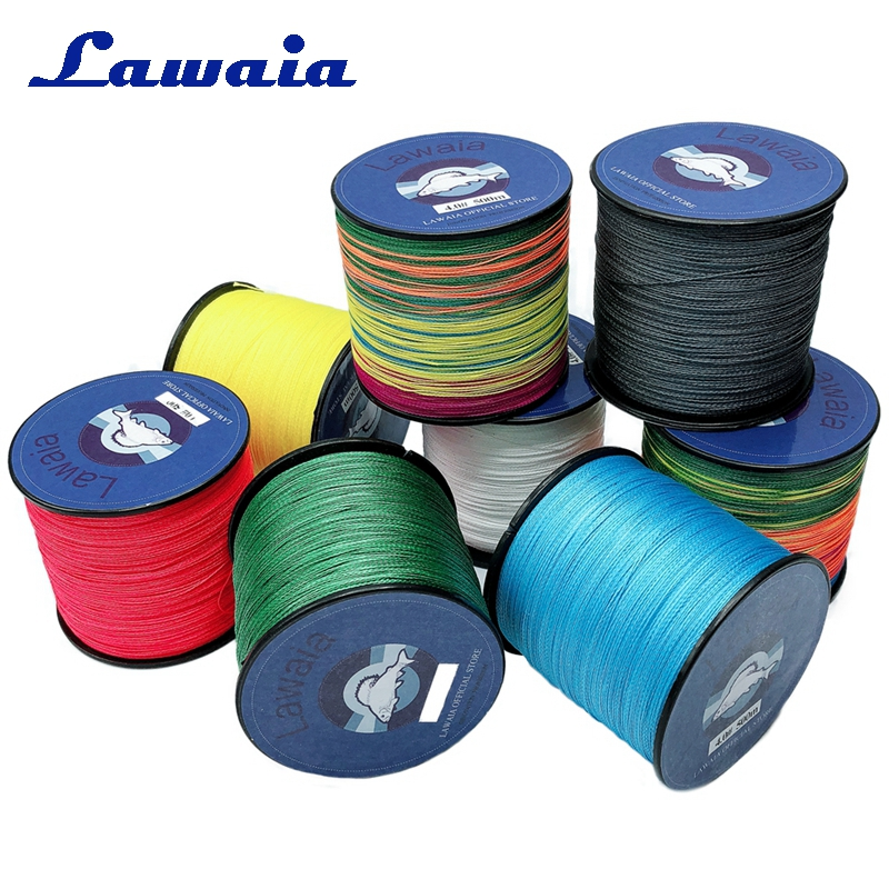 Lawaia Strong Horse Fishing Line Super 4 Strands 500 Meters Braided Wire For Saltwater Fishing 10LB 30LB 40LB 80LB Fishing Tools in Fishing Lines from Sports Entertainment