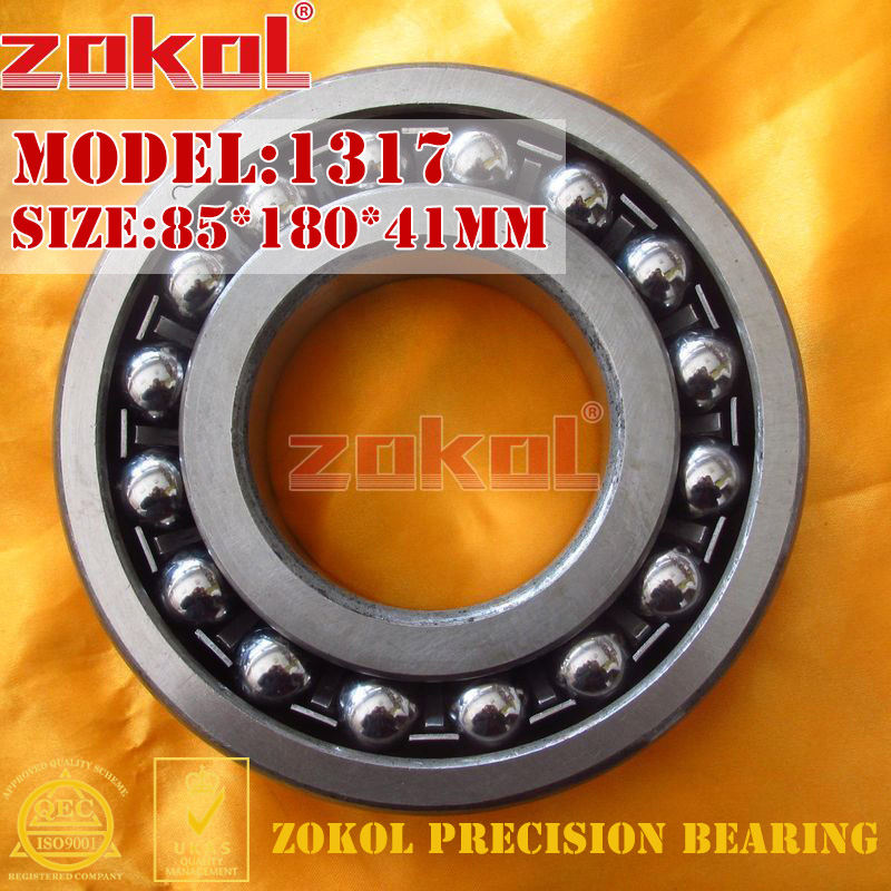 ZOKOL bearing 1317 Self-aligning ball bearing 85*180*41mm mochu 22213 22213ca 22213ca w33 65x120x31 53513 53513hk spherical roller bearings self aligning cylindrical bore
