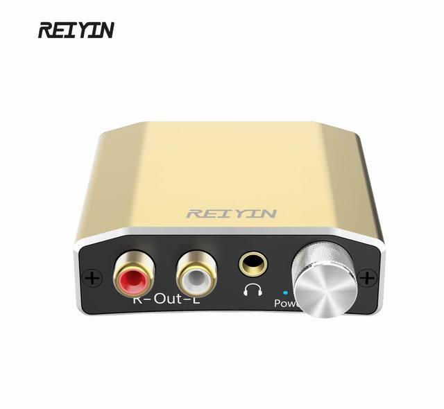 Reiyin DAC 192kHz 24bit Optical Coaxial Audio Converter for HD TV DVD XBOX PS4 Game console