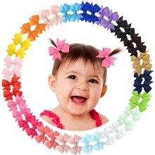 1 Uds pequeños lazos del pelo tipo molinillo de 2 pulgadas pinzas de cocodrilo para bebés niñas niños 811