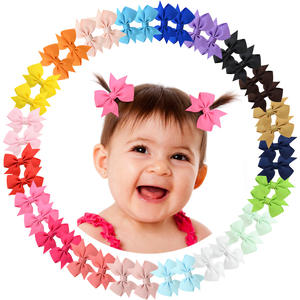 1 Pcs Tiny 2 Pinwheel Hair Bows Alligator Clips for Baby Gilrs Toddlers Kids 811