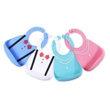 Водонепроницаемый бутылочка для кормления ребенка нагрудники Еда Класс силиконовые младенцев Слюнявчики Регулируемый нагрудник для новорожденных фартуки для кармашек для риса