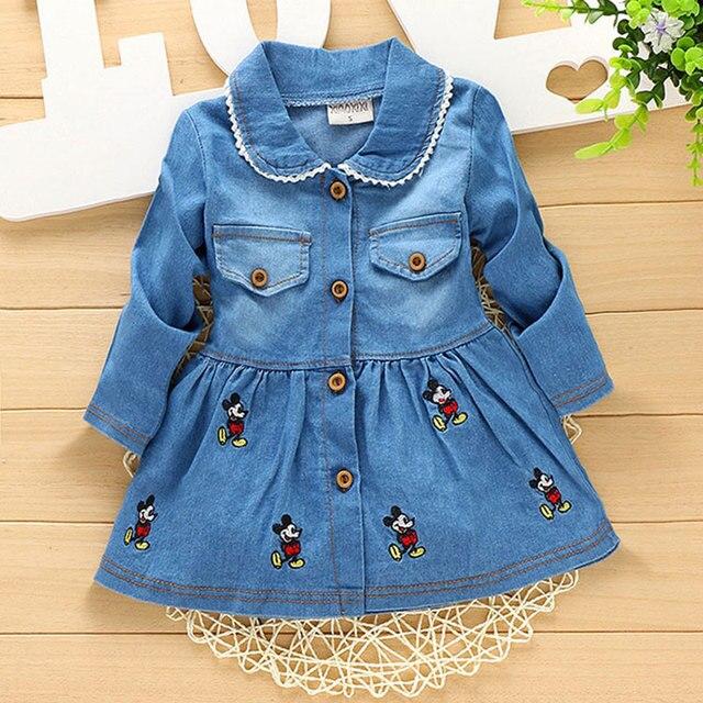 2017 Весной девочка детская одежда марка дизайн ковбой длинный жакет верхняя одежда для младенцев новорожденных девочек носить clothing спортивные куртки пальто
