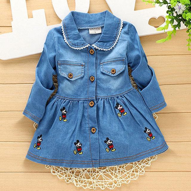 2017 primavera menina roupas de bebê da marca cowboy projeto longo casaco outerwear para o infante do bebê meninas usam jaquetas esportivas casacos clothing