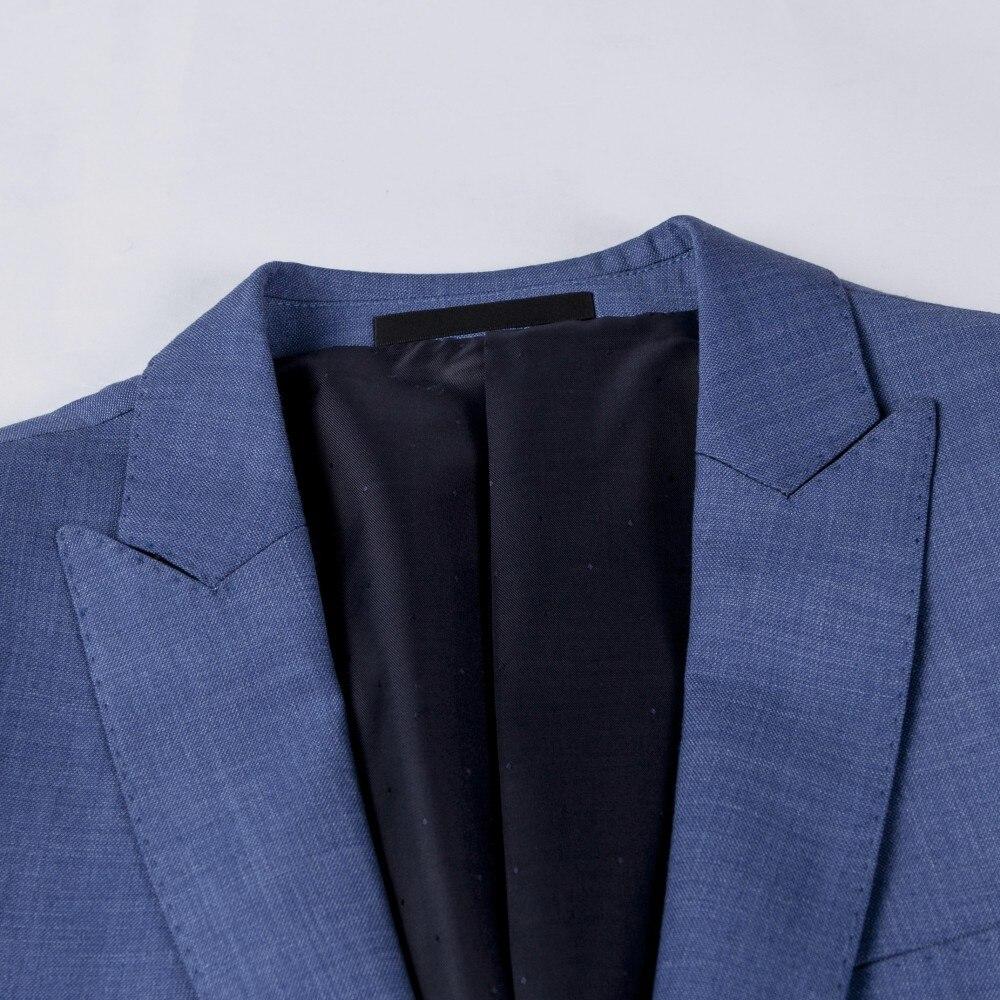 Modo Fit La Nuziale Slim Vestito Per Abiti Casual Formale Folobe Blu 2  Vestiti Uomo Affari ... c37dfff8ebb