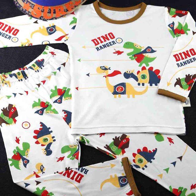 b83792ec4 € 11.09  Pijamas del cabrito Dino Ranger impresa Bebé dinosaurio de Los  Muchachos Juego de Los Niños Niñas Ropa de Dormir En Casa juegos de ...