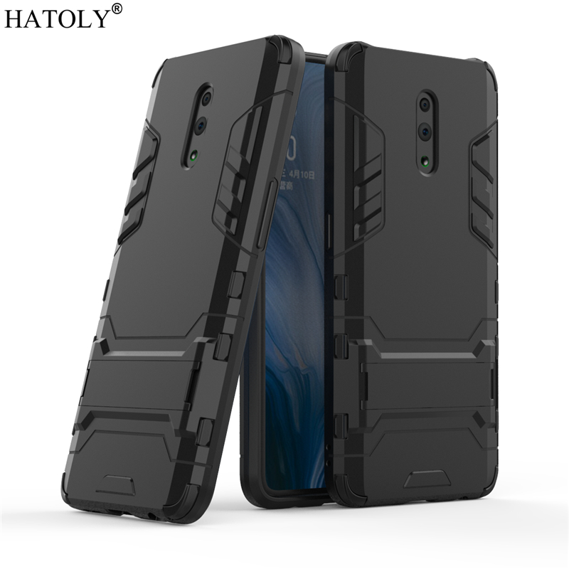 For Cover OPPO Reno Case Rubber Robot Armor Shell Funda Hard PC Back Phone for Protective