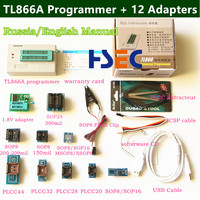 100 Original NEWEST Minipro TL866A USB Programmer 12 Items IC Adapters SOP8 Test Clip High Speed