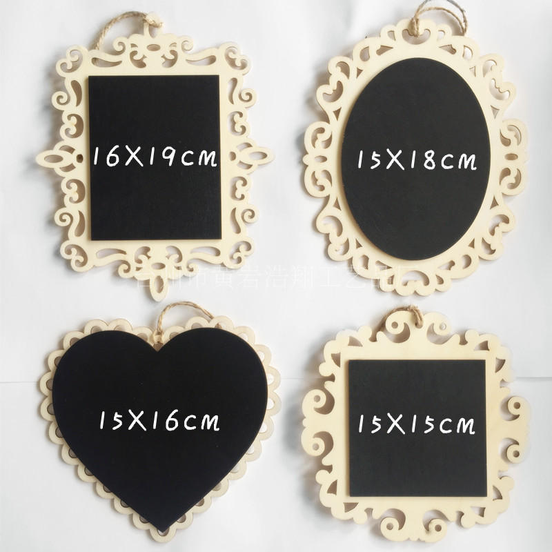 Keythemelife Wooden Mini Blackboard Christmas Home Shop Message Board Wall Hangings Decor Crafts 3B
