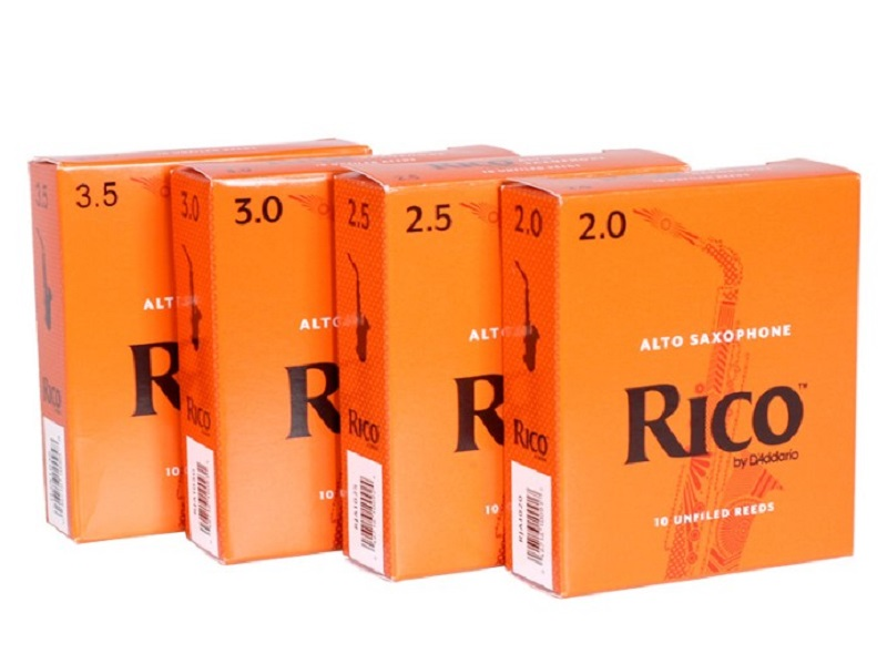 Rico By D'Addario Alto Sax Saxophone Reeds, Strength 2.0/2.5/3.0/3.5, 10-pack Or 1-Pack, Buy 3 Or More, Get Upgraded Vacuum-Seal