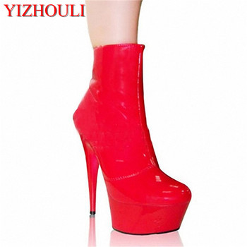 Classics Black 15cm Platforms Boots High Heel Shoes 6 inch combat boots fashion women pole dancing ankle boots