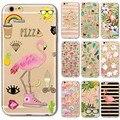 Новый Творческий Милый Мультфильм Фламинго Страуса Животных Мягкая Вернуться ТПУ Case Cover для iPhone 5 5s 6 6 s 7 Плюс Ясно Телефон Капа Funda